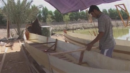 Iraq marshes are getting restored, providing growth to boat building industries
