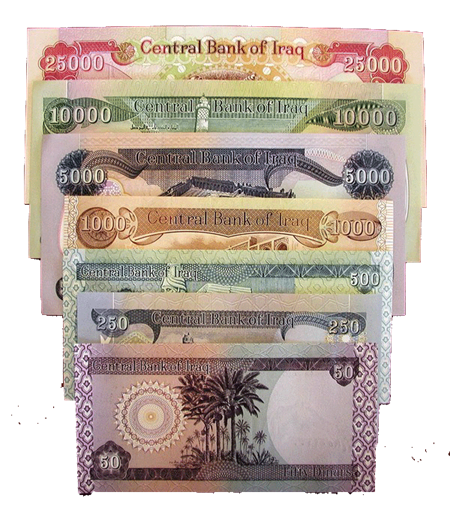 Central Bank of Iraq Withdraw 50 dinars Banknote from trading