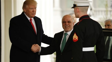 Trump welcomes Iraqi PM Abadi to White House