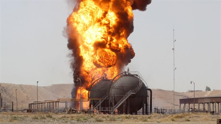 Oil well blown up in northern Iraq